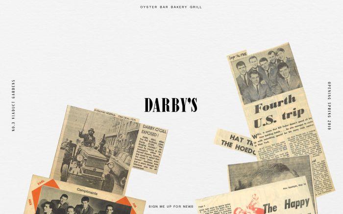 Screenshot of Darby's Restaurant