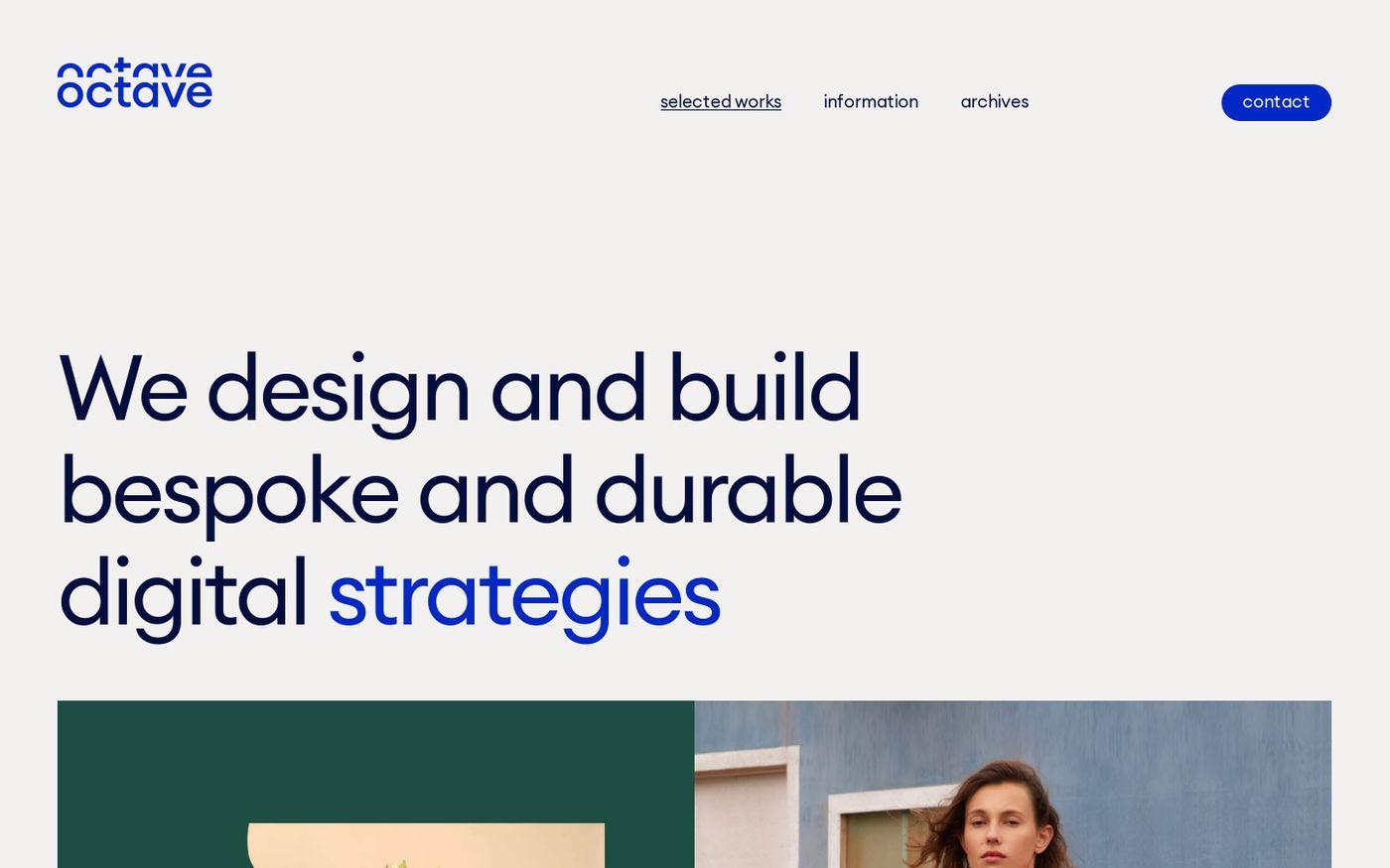 Screenshot of Octave Octave website