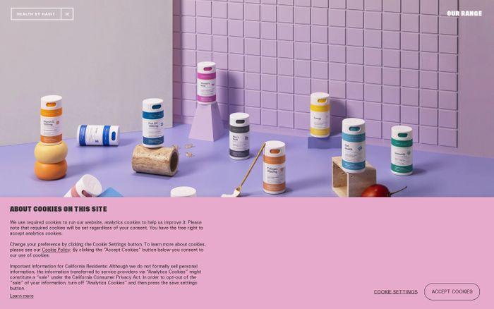 Screenshot of HealthByHabit website