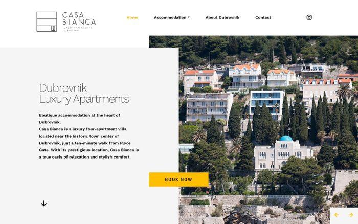 Screenshot of Dubrovnik Luxury Apartments - Casa Bianca