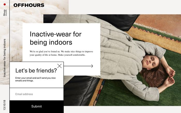 Screenshot of OFFHOURS — Inactive-wear for being indoors. – offhours-co