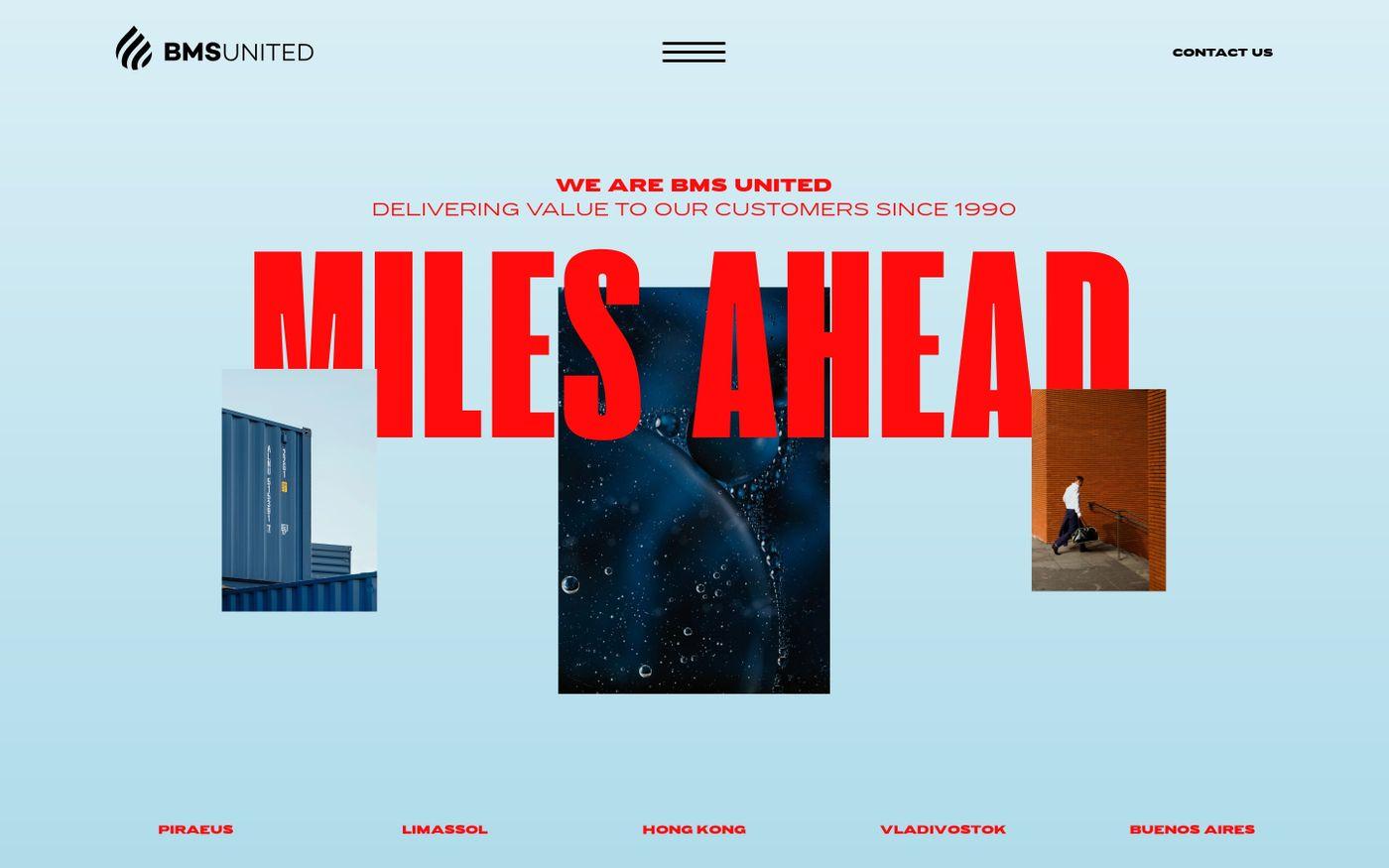 Screenshot of BMS United website