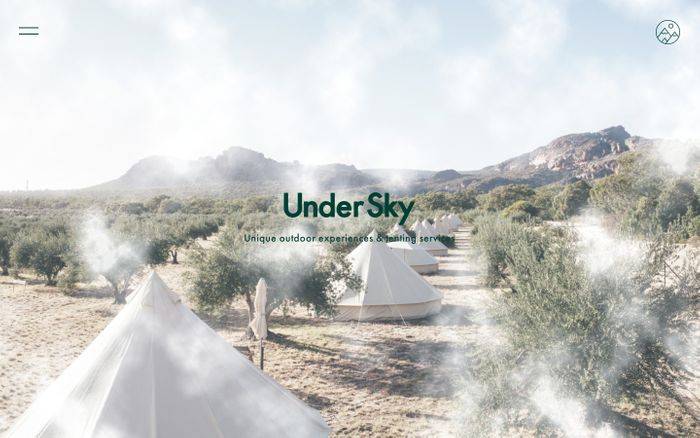 Screenshot of Under Sky: Sperry tent hire and glamping accommodation