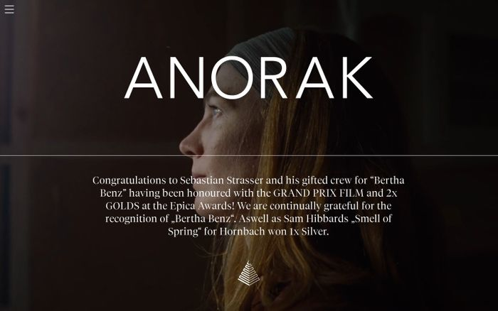Screenshot of ANORAK FILM BERLIN