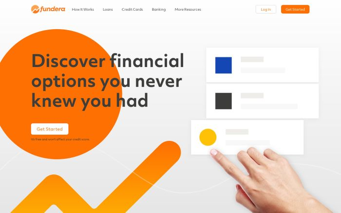 Screenshot of Fundera: Compare Your Best Small Business Loan and Credit Card Options
