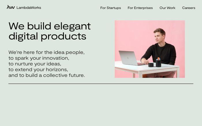 Screenshot of LambdaWorks website