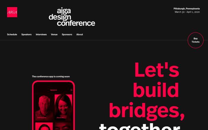 Screenshot of AIGA Design Conference
