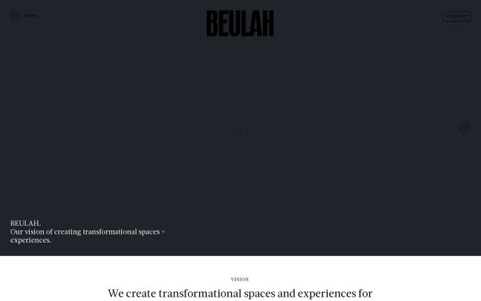 Screenshot of Beulah website
