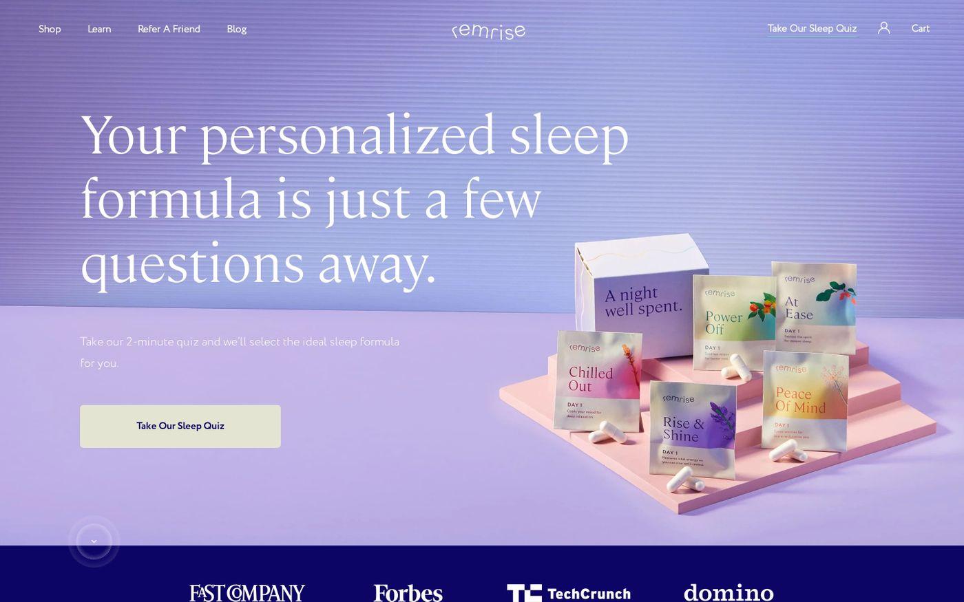 Screenshot of Remrise website