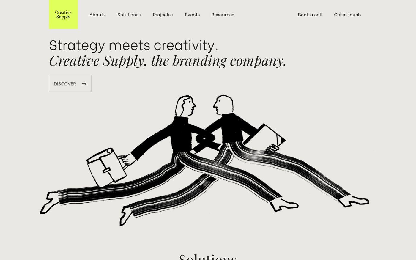 Screenshot of Creative Supply website
