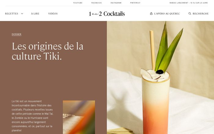 Screenshot of 1 ou 2 Cocktails website