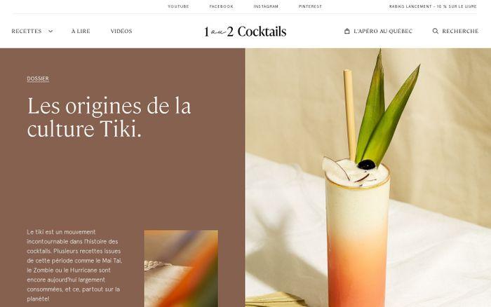 Screenshot of 1 ou 2 Cocktails website