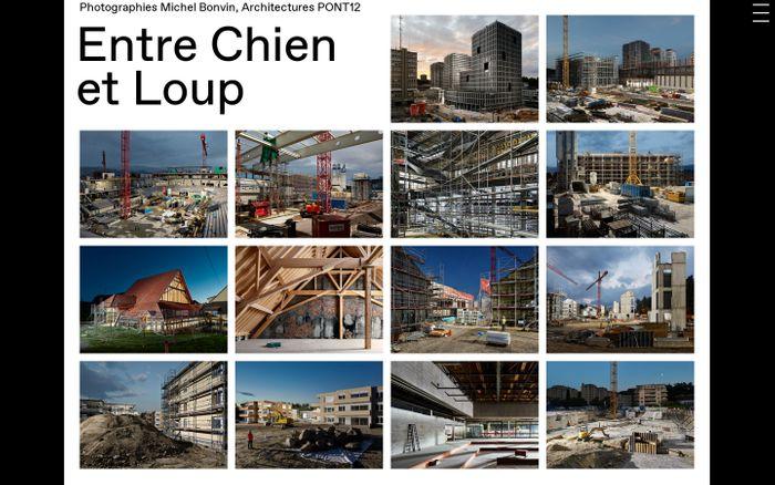 Screenshot of Entre Chien et Loup, Photographie de Michel Bonvin et Architecture de Pont 12