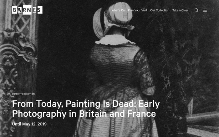 Screenshot of Barnes foundation website