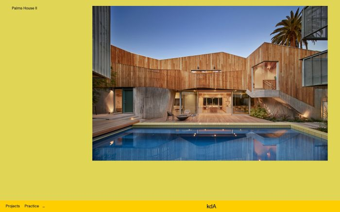 Screenshot of Kevin Daly architects website