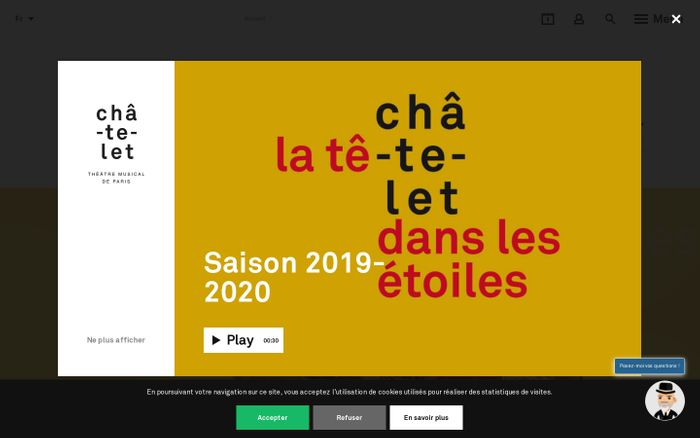 Screenshot of Accueil - Théatre du Châtelet