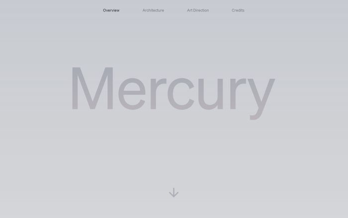 Screenshot of Mercury