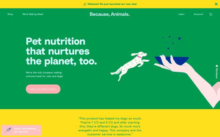 Screenshot of Because Animals