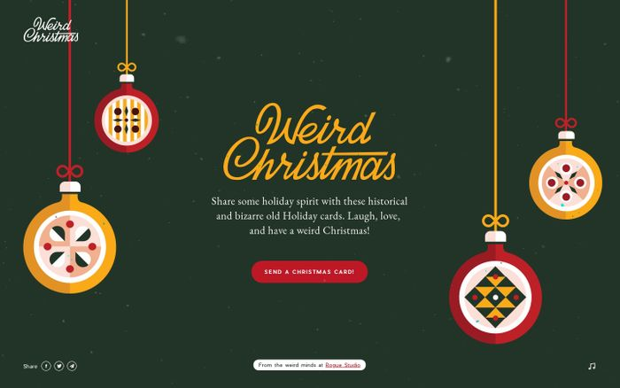 Screenshot of Weird Christmas ~ Create your card!