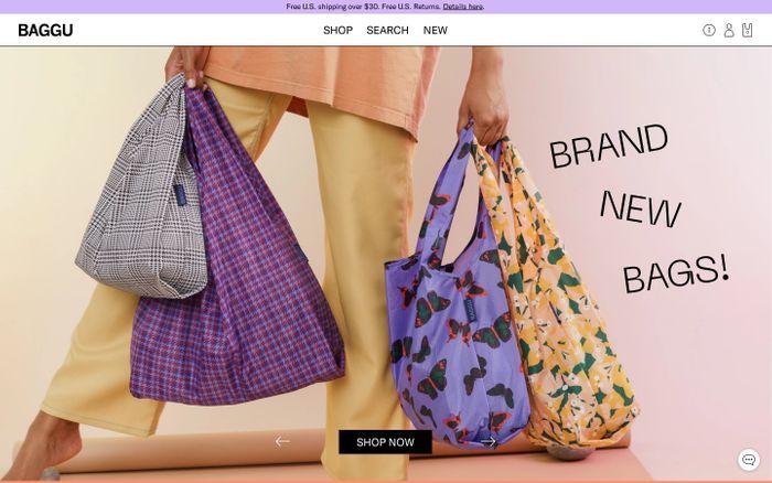 Screenshot of BAGGU