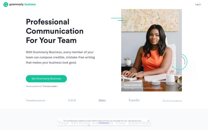 Screenshot of Grammarly Business - Polish Your Team's Communication