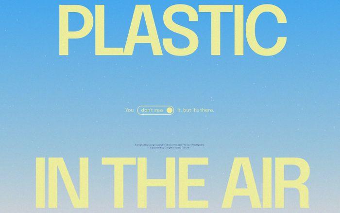 Screenshot of Plastic Air website
