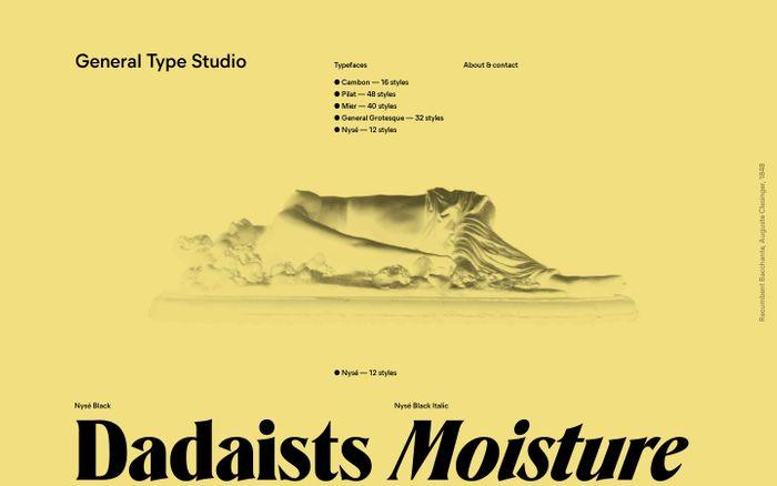 Screenshot of General Type Studio website