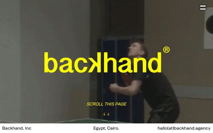 Screenshot of Backhand Agency