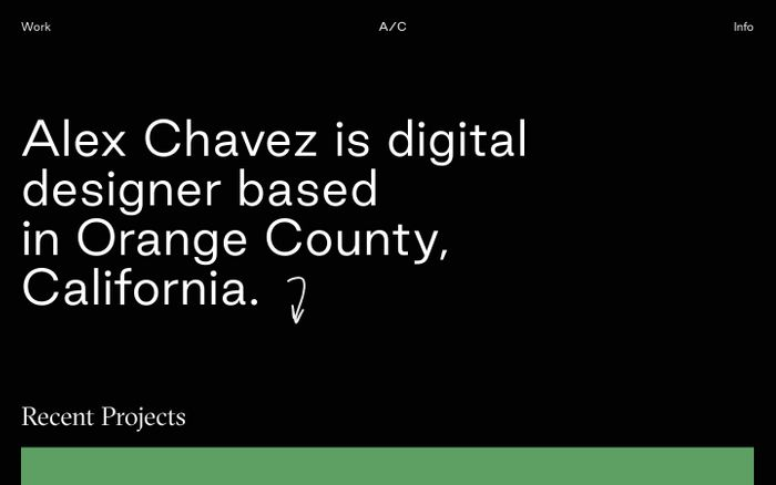 Screenshot of Alex Chavez - Works