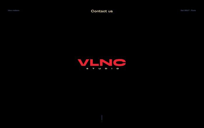 Screenshot of vlnc studio | Home