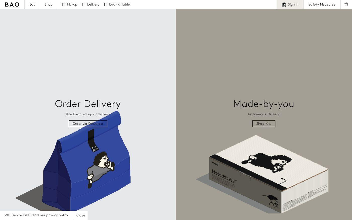 Screenshot of Bao website