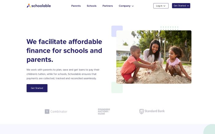 Screenshot of Schoolable: The simple way to plan, save and track tuition payments for schools and parents