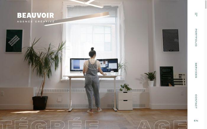 Screenshot of Beauvoir | Agence de communication créative intégrée