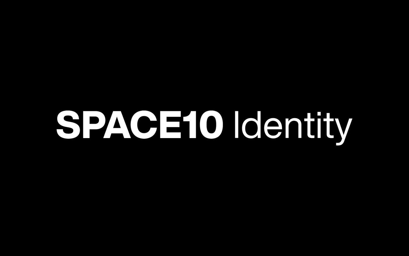 Screenshot of Space10 - Brand Identity website