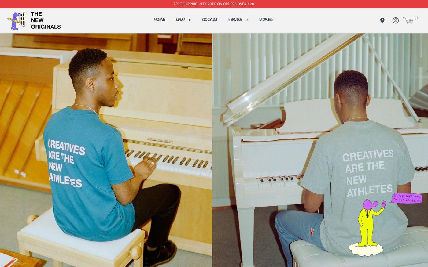Screenshot of The new originals website