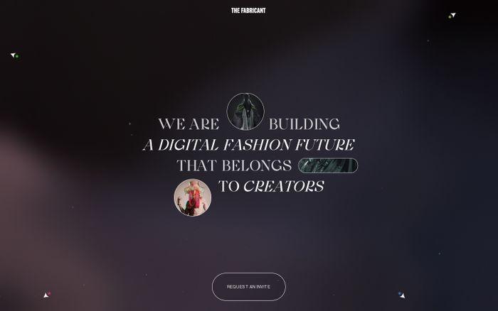 Screenshot of The Fabricant website