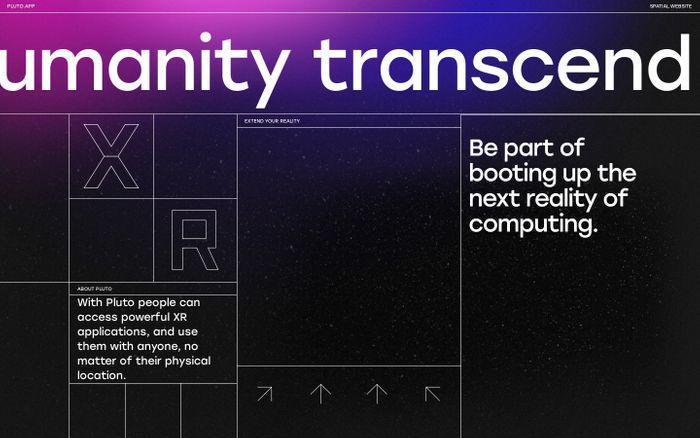 Screenshot of Pluto website