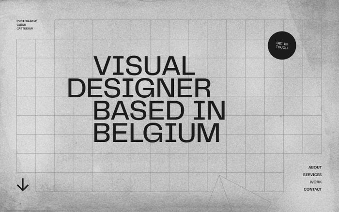 Screenshot of Glenn Catteeuw - Visual Designer