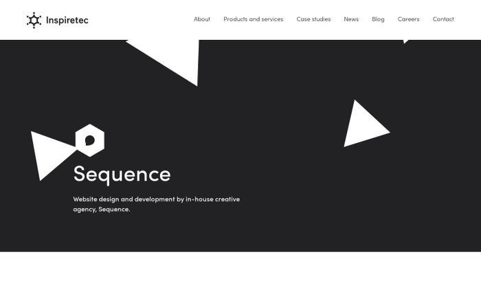 Screenshot of Sequence — The Creative Agency of the Inspiretec Group – Inspiretec
