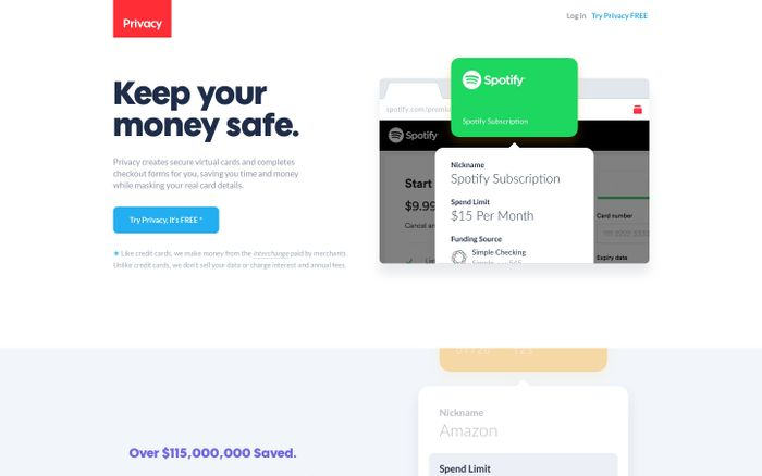 Screenshot of Privacy - A better way to pay.