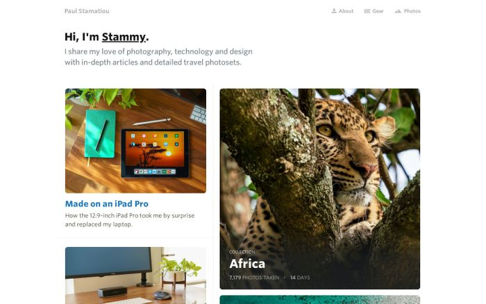 Screenshot of Technology, Design and Photography — PaulStamatiou.com