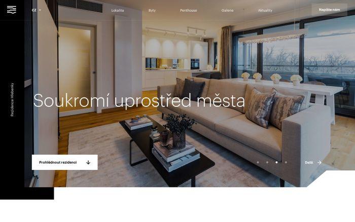 Screenshot of Rezidence Hřebenky | Velkorysý domov na jedinečné adrese