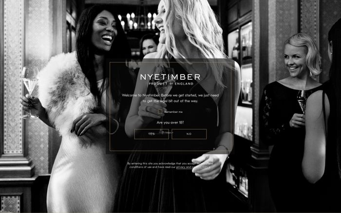 Screenshot of  Nyetimber, World-renowned English sparkling wine producer website