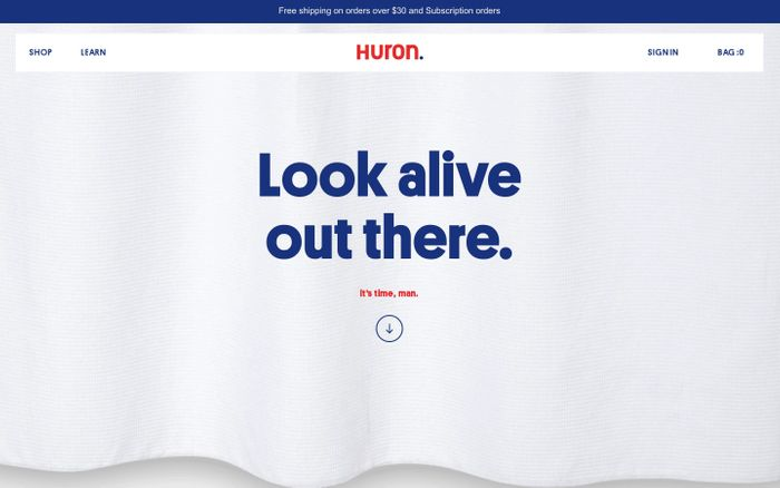 Screenshot of Huron - A+ personal care for guys everywhere