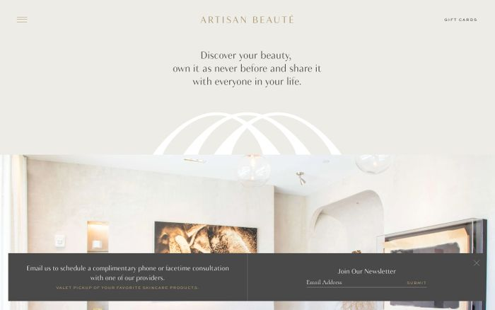 Screenshot of Artisan beauté