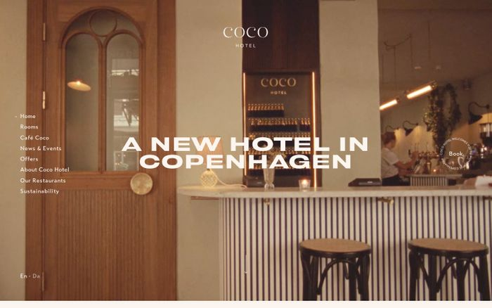 Screenshot of Coco hotel website