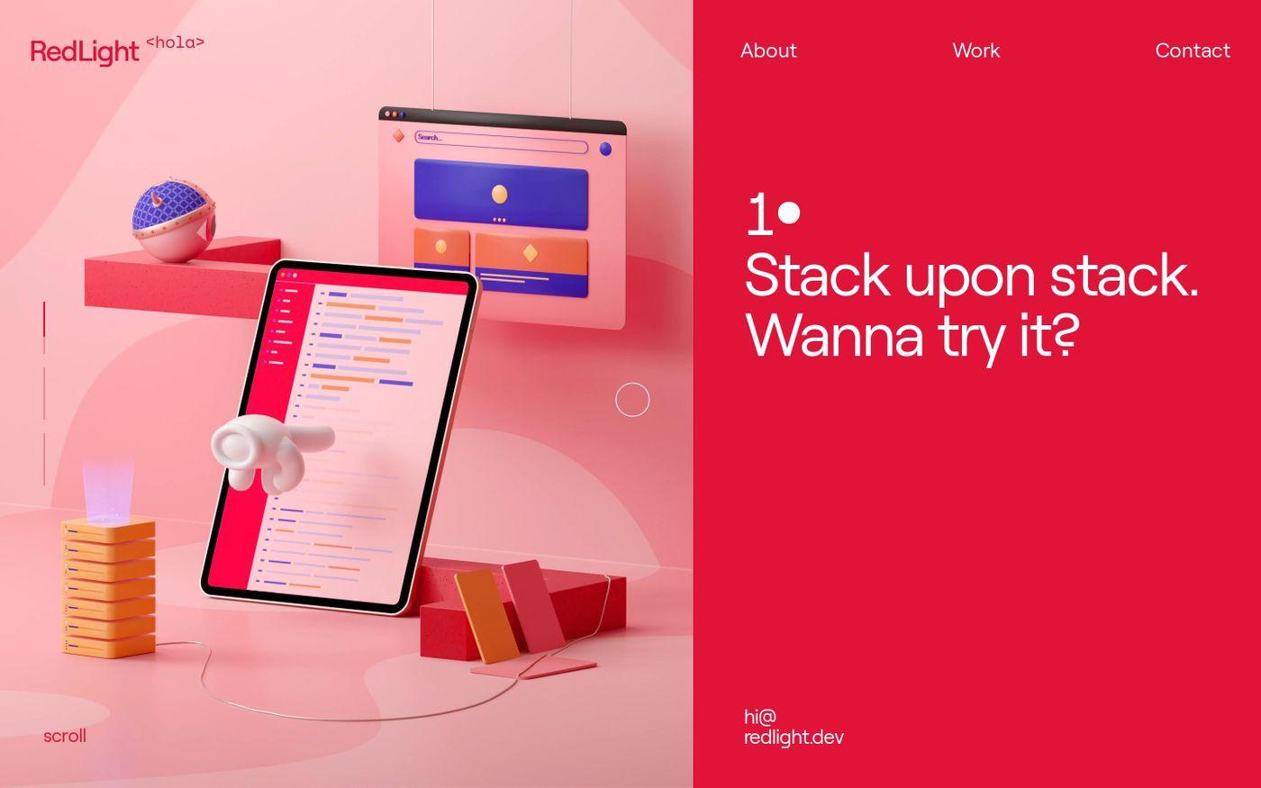 Screenshot of RedLight website