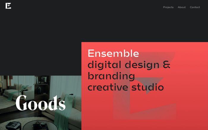 Screenshot of Ensemble creative studio
