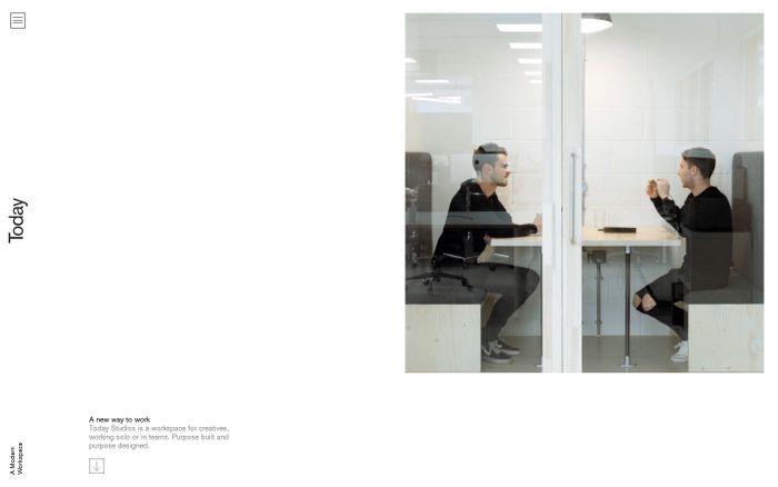 Screenshot of todaystudios.co   A Modern Workspace