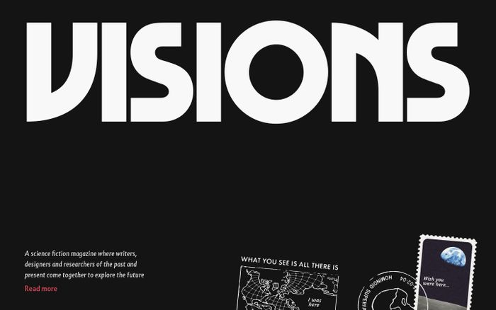 Screenshot of Visions — A Literary Science Fiction Magazine